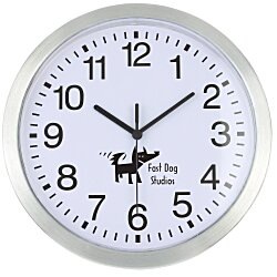 View a larger, more detailed picture of the Metallic Edge Slim Wall Clock - 12 