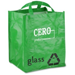 View a larger, more detailed picture of the ModFX Recycling Tote - Glass - Closeout