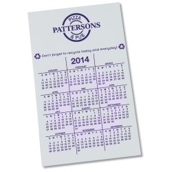 View a larger, more detailed picture of the Bic 20 mil Calendar Magnet Recycle White