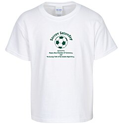 View a larger, more detailed picture of the Gildan 6 1 oz Ultra Cotton T-Shirt - Youth - White