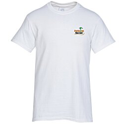 View a larger, more detailed picture of the Gildan 6 1 oz Ultra Cotton T-Shirt - Men s - Emb - White