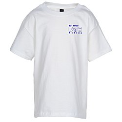View a larger, more detailed picture of the Hanes Beefy-T - Youth - White