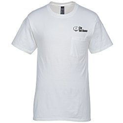 View a larger, more detailed picture of the Hanes Beefy-T w Pocket - White