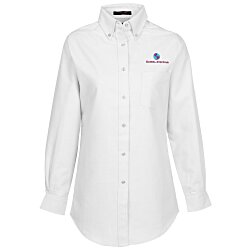 View a larger, more detailed picture of the Ultra Club 60 40 Oxford Dress Shirt - Ladies