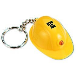 View a larger, more detailed picture of the Mini Hard Hat Key-Ring Light - 24 hr