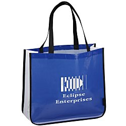 View a larger, more detailed picture of the Laminated Polypropylene Shopper Tote - 14 x 16 - Colored