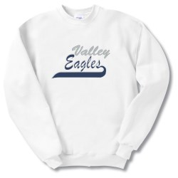 View a larger, more detailed picture of the Hanes Comfortblend Sweatshirt - Applique Twill - White