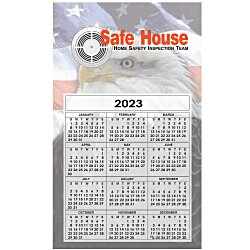 View a larger, more detailed picture of the Bic 20 mil Calendar Magnet Medium Patriotic