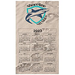 View a larger, more detailed picture of the Bic 20 mil Calendar Magnet Medium Footprints