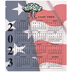 View a larger, more detailed picture of the Bic 20 mil Calendar Magnet Small Waving Flag