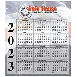 View a larger, more detailed picture of the Bic 20 mil Calendar Magnet Small Patriotic