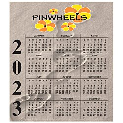 View a larger, more detailed picture of the Bic 20 mil Calendar Magnet Small Footprints