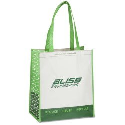 View a larger, more detailed picture of the Expressions Grocery Tote - Green