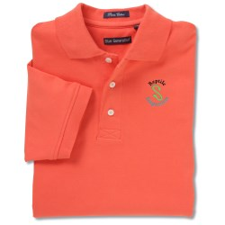 View a larger, more detailed picture of the Blue Generation Pima Polo - Men s - Closeout