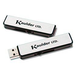 View a larger, more detailed picture of the Metal Retractable USB Drive - 1GB