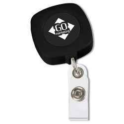 View a larger, more detailed picture of the Retractable Tape Measure Badge Holder - Opaque