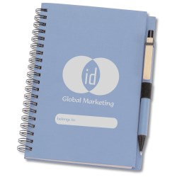 View a larger, more detailed picture of the ID Recycled Notebook w Pen