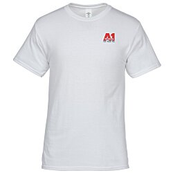 View a larger, more detailed picture of the Hanes 50 50 ComfortBlend T-Shirt - Embroidered - White
