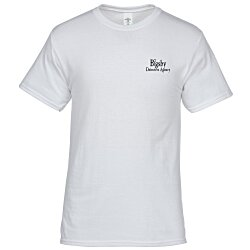 View a larger, more detailed picture of the Hanes 50 50 ComfortBlend T-Shirt - Screen - White