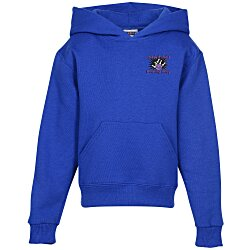 View a larger, more detailed picture of the Jerzees Hooded Sweatshirt - Youth - Embroidered