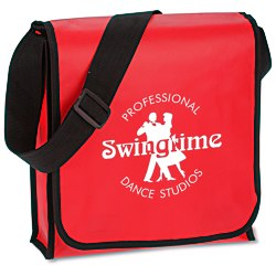 View a larger, more detailed picture of the Laminated Polypropylene Messenger Tote