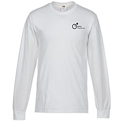 View a larger, more detailed picture of the FOL Long Sleeve 100 Cotton T-Shirt - White - Screen