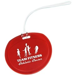 View a larger, more detailed picture of the Traveler Round Luggage Tag - Opaque