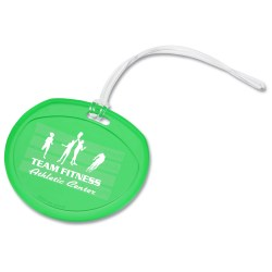 View a larger, more detailed picture of the Traveler Round Luggage Tag - Translucent
