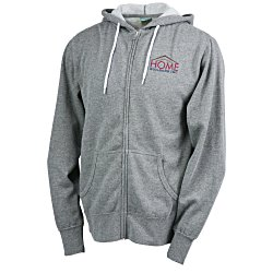 View a larger, more detailed picture of the Unisex Full-Zip Hooded Sweatshirt