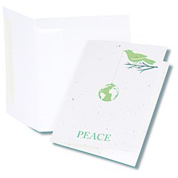 View a larger, more detailed picture of the Seeded Holiday Card - Peace