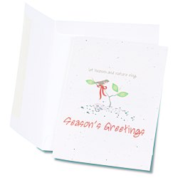 View a larger, more detailed picture of the Seeded Holiday Card - Let Heaven & Nature Sing