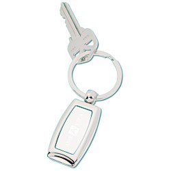 View a larger, more detailed picture of the Curved Metal Key Tag
