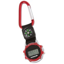 View a larger, more detailed picture of the Carabiner Stopwatch with Compass