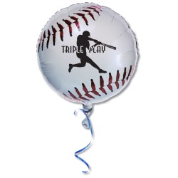 View a larger, more detailed picture of the Mylar Balloon - 18 - Baseball