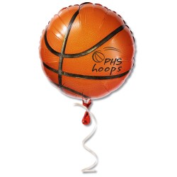 View a larger, more detailed picture of the Mylar Balloon - 18 - Basketball