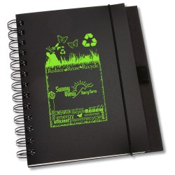 View a larger, more detailed picture of the Recycled PolyPro - Cardboard Journal - Eco Expressions
