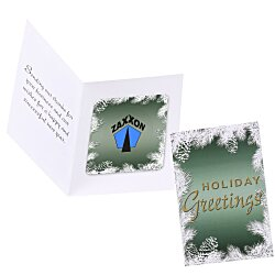 View a larger, more detailed picture of the Greeting Card w Magnetic Photo Frame - Holiday Evergreen