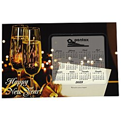 View a larger, more detailed picture of the Greeting Card w Magnetic Calendar - Champagne