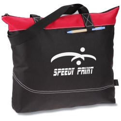 View a larger, more detailed picture of the Network Zippered Tote - 24 hr