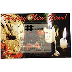 View a larger, more detailed picture of the Greeting Card with Magnetic Calendar - Midnight