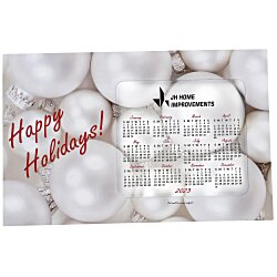 View a larger, more detailed picture of the Greeting Card with Magnetic Calendar - Ornaments