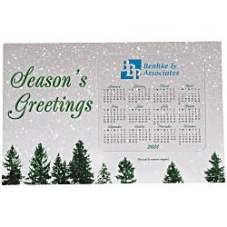 View a larger, more detailed picture of the Greeting Card w Magnetic Calendar - Snowfall