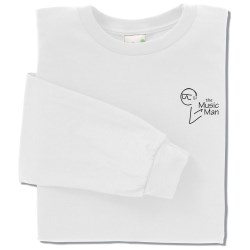 View a larger, more detailed picture of the Anvil Organic 5 oz Long-Sleeve T-Shirt - White
