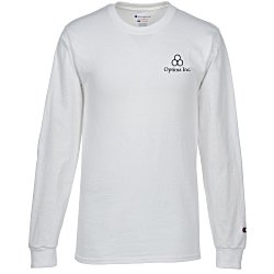 View a larger, more detailed picture of the Champion Long-Sleeve Tagless T-Shirt - White