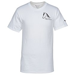 View a larger, more detailed picture of the Champion Tagless T-Shirt - Screen - White