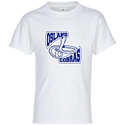 View a larger, more detailed picture of the Hanes Tagless T-Shirt - Youth - Screen - White
