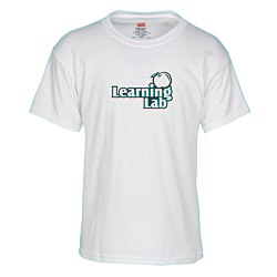 View a larger, more detailed picture of the Hanes ComfortSoft Tee - Youth - White
