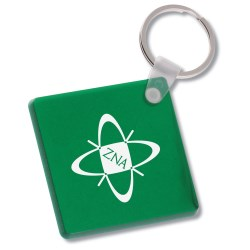 View a larger, more detailed picture of the Diamond Shape Vinyl Key Tag - Translucent