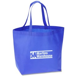 View a larger, more detailed picture of the Bottom Gusset Polypropylene Shopper - 13 x 19-1 2