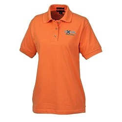 View a larger, more detailed picture of the Blue Generation Egyptian Cotton Pique Polo - Ladies